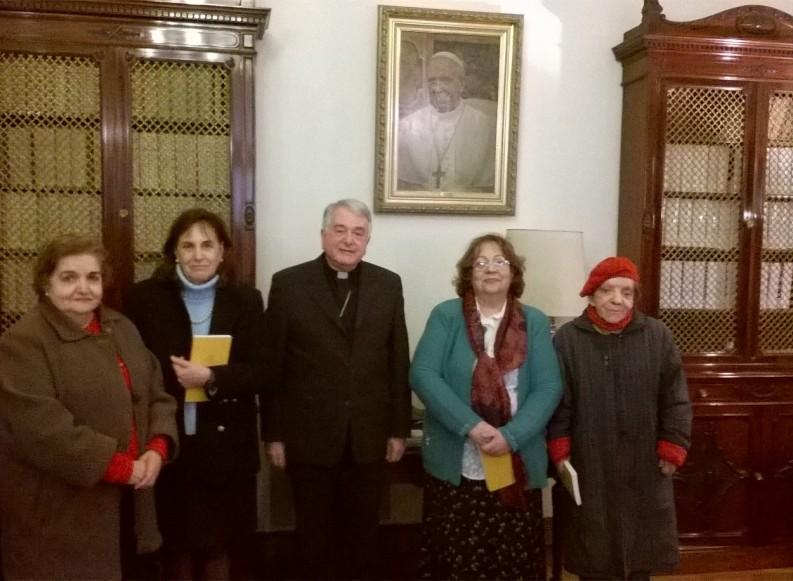 EL NUNCIO APOSTOLICO DE ARGENTINA RECIBE A LA OMAEC Y CONFAEC