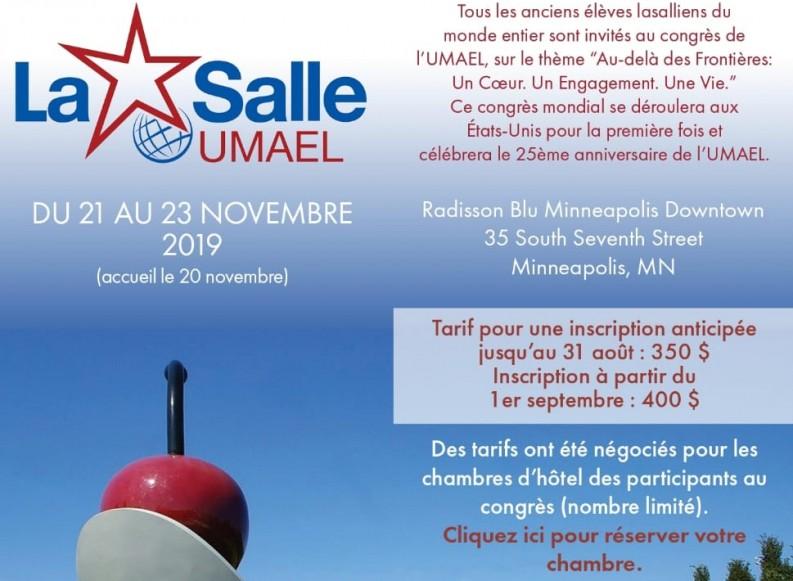 UMAEL -La Salle – prochain 7e Congrès mondial