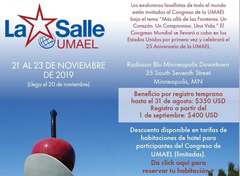 UMAEL -La Salle – próximo 7º Congreso mundial