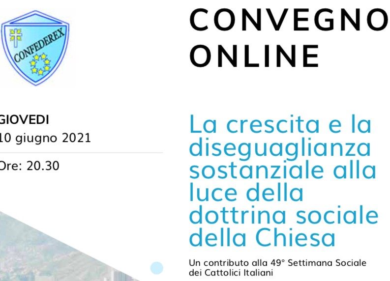 """CONFERENCE: """"GROWTH AND SUBSTANTIAL INEQUALITY IN THE LIGHT OF THE CHURCH'S SOCIAL DOCTRINE"""""""